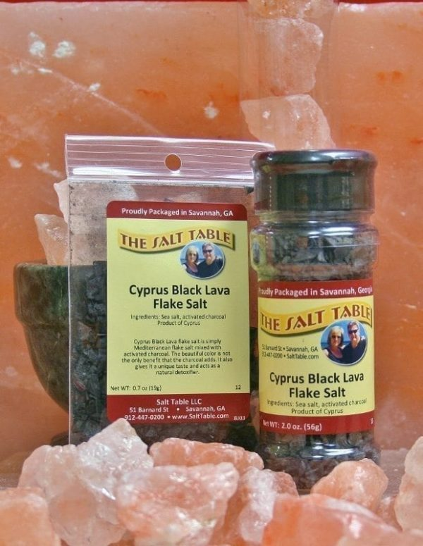 Cyprus Black Lava Flake Salt