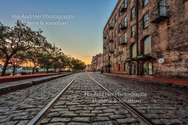 Savannah Collection Photo - River Street Rails #Sav28
