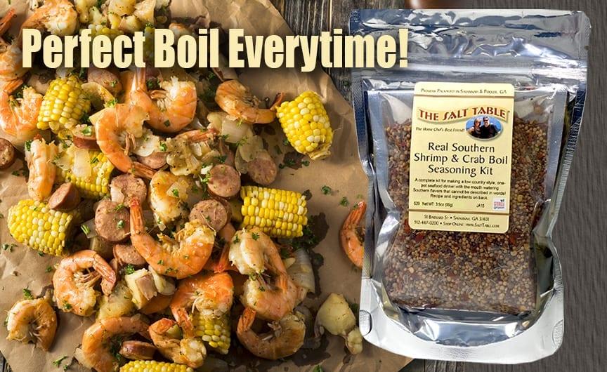 Real Southern Shrimp Crab Boil Seasoning Kit Salt Table